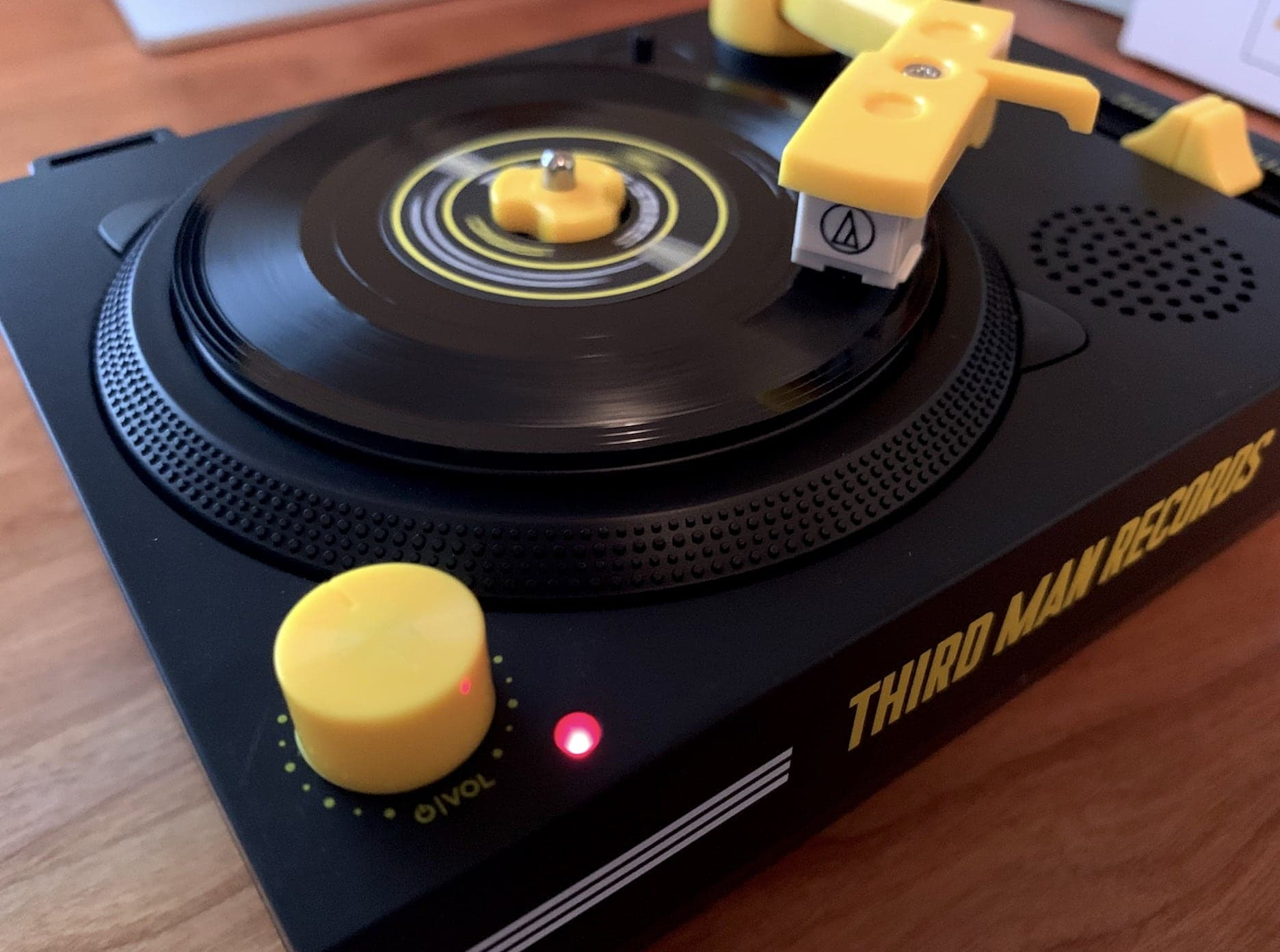 Third Man Records Crosley RSD3 Playing a Record